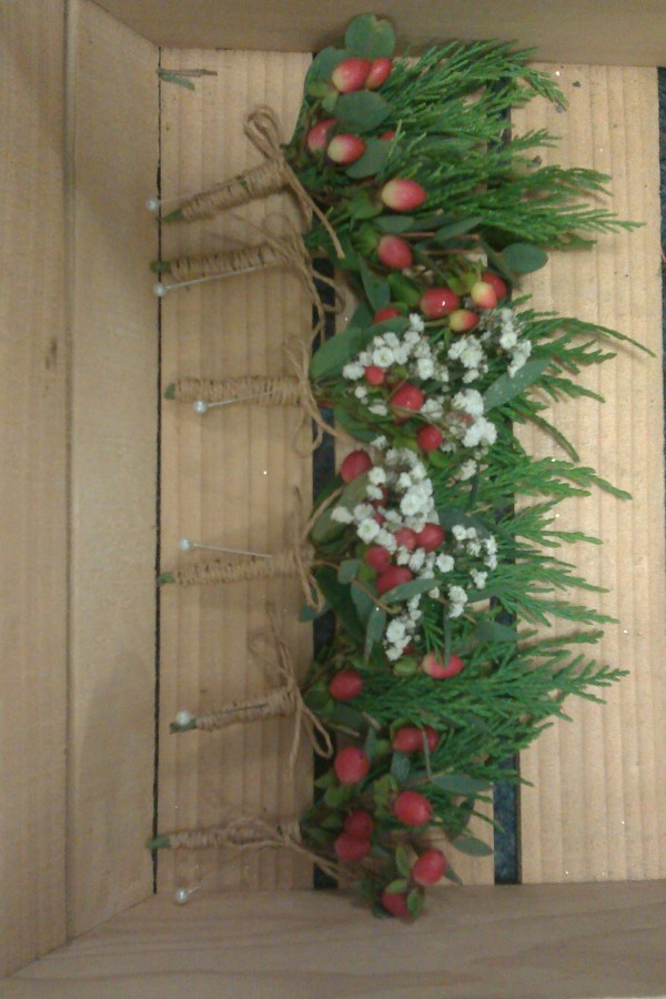 Berries, Gypsophilia & Fir in the Buttonholes category