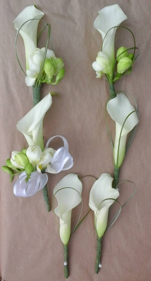 Calla Lily & Freesia Accent in the Buttonholes category