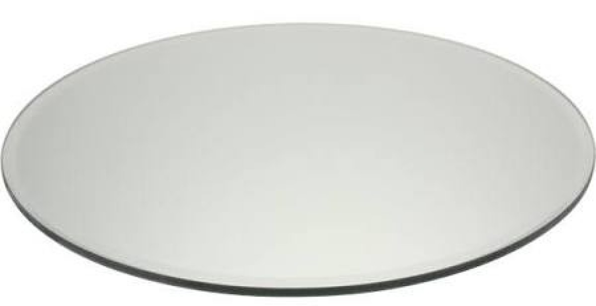Plain round Mirror Plate (25cm) in the Hire Glassware category