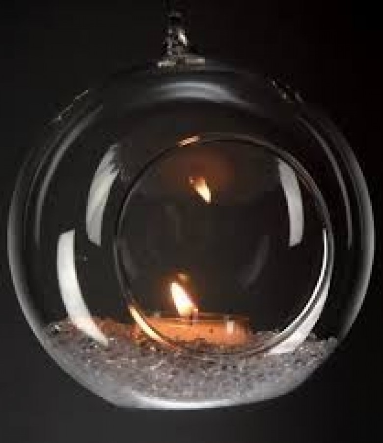 Glass Hanging Globes (12cm) in the Hire Glassware category