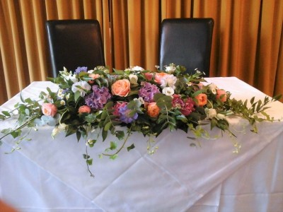 Top Table & Registry Flowers