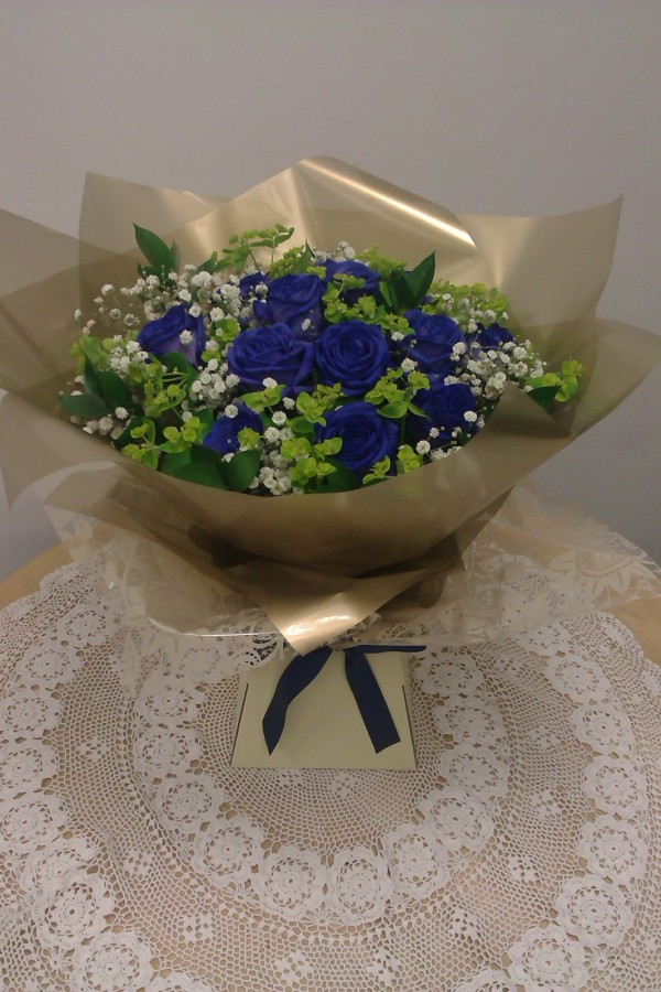 Old Blue Eyes in the Aqua pack Bouquets category