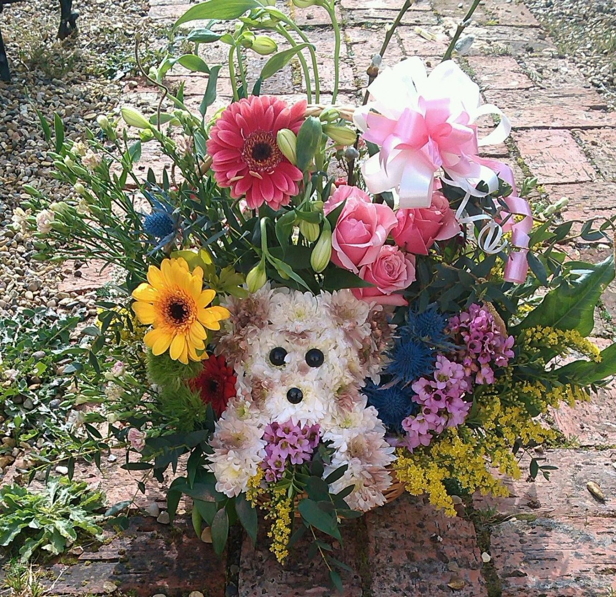 Puppy Basket - £40.00 in the Mothers Day Flowers category