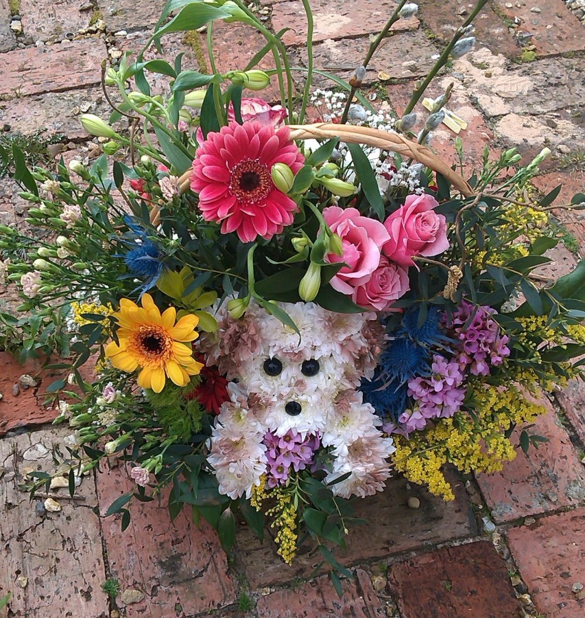 Puppy Basket in the Oasis Arrangements category