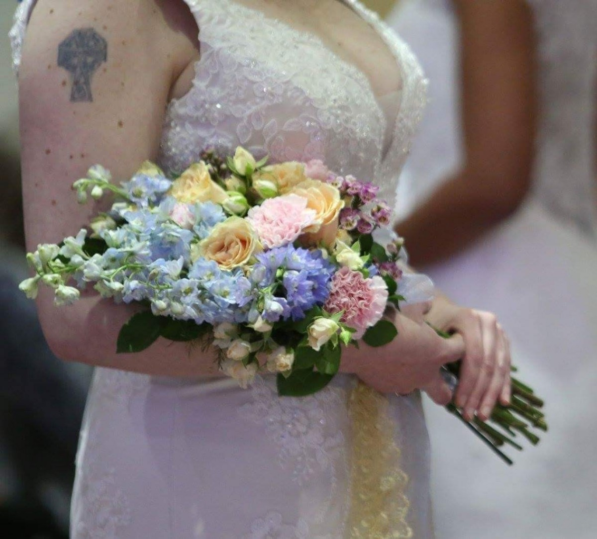 romantic spring pageant in the Wedding Bouquets category