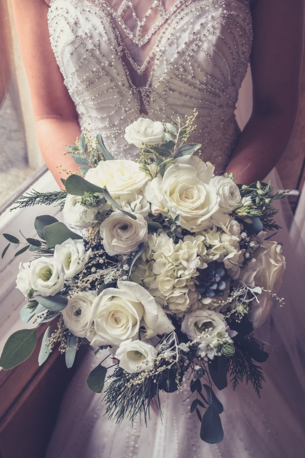 Elegant romantic whites in the Wedding Bouquets category